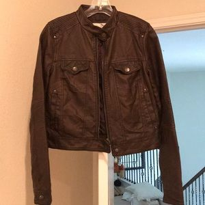 Xhileration Faux Leather Jacket
